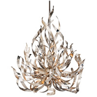 Corbett Lighting Graffiti 9 Light Pendant in Silver Leaf and Polished Stainless 154-49