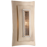 Muse 1 Light 7 inch Tranquility Silver Leaf with Polised Stainless Wall Sconce Wall Light