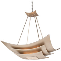 Muse 8 Light 40 inch Tranquility Silver Leaf with Polished Stainless Pendant Ceiling Light