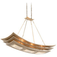 Corbett Lighting Muse 6 Light Pendant in Tranquility Silver Leaf 155-56