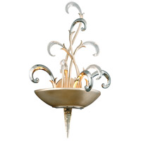 Crescendo 2 Light 14 inch Tranquility Silver Leaf with Polised Stainless Wall Sconce Wall Light