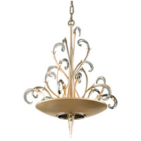 Crescendo 4 Light 20 inch Tranquility Silver Leaf with Polished Stainless Pendant Ceiling Light