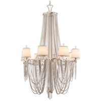 Flirt 8 Light 39 inch Silver Leaf and Polished Stainless Chandelier Ceiling Light