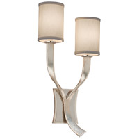 Roxy 2 Light 12 inch Modern Silver Wall Sconce Left Wall Light