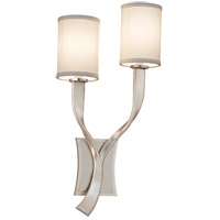 Roxy 2 Light 12 inch Modern Silver Wall Sconce Right Wall Light