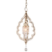 Bijoux 1 Light 10 inch Silver Leaf With Antique Mist Mini-Pendant Ceiling Light