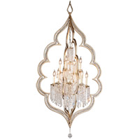 Corbett Lighting Bijoux 12 Light Pendant in Silver Leaf With Antique Mist 161-412