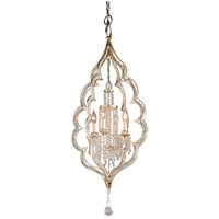 Bijoux 4 Light 21 inch Silver Leaf With Antique Mist Pendant Ceiling Light