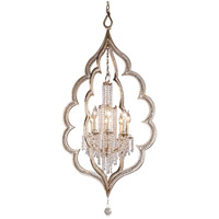 Bijoux 8 Light 27 inch Silver Leaf With Antique Mist Pendant Ceiling Light