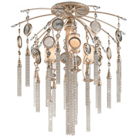 Bliss 4 Light 26 inch Topaz Leaf Semi-Flush Ceiling Light