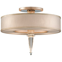 Corbett Lighting Harlow 4 Light Semi-Flush with LED Crystal Column in Tranquility Silver Leaf 166-34