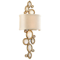 Corbett Lighting Fame and Fortune 2 Light Wall Sconce in Brazilian Silver Leaf 167-12