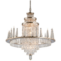 Illusion 34 Light 36 inch Silver Leaf and Polished Stainless Chandelier Ceiling Light