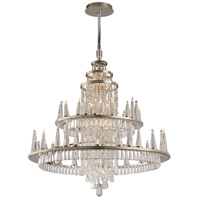 Corbett Lighting Illusion 60 Light Chandelier in Silver Leaf and Polished Stainless 170-012