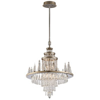 Illusion 22 Light 24 inch Silver Leaf and Polished Stainless Chandelier Ceiling Light
