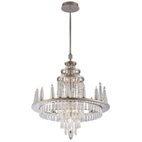Illusion 28 Light 29 inch Silver Leaf and Polished Stainless Chandelier Ceiling Light
