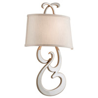 Day Dream 2 Light 12 inch Polished Nickel and Champagne Silver Leaf Wall Sconce Wall Light
