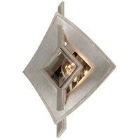 Corbett Lighting Kismet 1 Light Wall Sconce in Silver Leaf and Polished Stainless 173-11