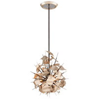 Corbett Lighting Poetry 3 Light Pendant in Tranquility Silver 175-43
