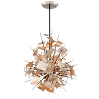 Corbett Lighting Poetry 6 Light Pendant in Tranquility Silver 175-46