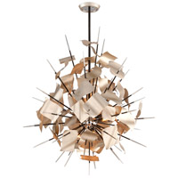 Corbett Lighting Poetry 9 Light Pendant in Tranquility Silver 175-49