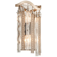 Chimera 2 Light 7 inch Tranquility Silver Leaf Wall Sconce Wall Light
