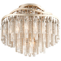 Corbett Lighting Chimera 4 Light Semi-Flush in Tranquility Silver Leaf 176-34