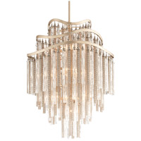 Corbett Lighting Chimera 10 Light Foyer Pendant in Tranquility Silver Leaf 176-710