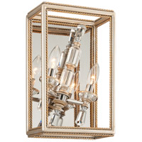 Corbett Lighting Houdini 2 Light Wall Sconce in Silver and Gold Leaf 177-12