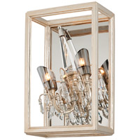 Corbett Lighting Houdini 2 Light Wall Sconce in Silver and Gold Leaf 177-13