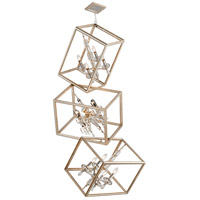 Houdini 12 Light 32 inch Silver and Gold Leaf Pendant Ceiling Light