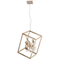 Corbett Lighting Houdini 4 Light Pendant in Silver and Gold Leaf 177-45