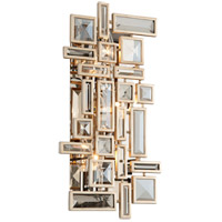 Corbett Lighting Method 3 Light Wall Sconce in Tranquility Silver Leaf 178-13