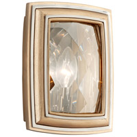 Corbett Lighting After Midnight 1 Light Wall Sconce in Tranquility Silver Leaf 179-11
