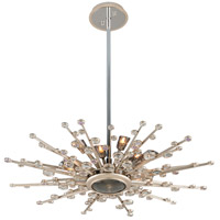 Corbett Lighting Big Bang 13 Light Pendant in Silver Leaf and Polished Stainless 183-412