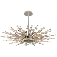 Big Bang 17 Light 44 inch Silver Leaf and Polished Stainless Pendant Ceiling Light