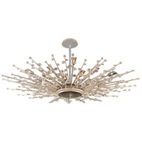 Corbett Lighting Big Bang 21 Light Pendant in Silver Leaf and Polished Stainless 183-420