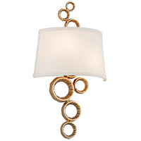 Corbett Lighting Continuum 2 Light Wall Sconce in Polished Brass 184-12
