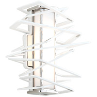 Corbett Lighting Tantrum 1 Light Wall Sconce in White 185-11