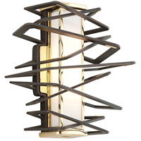 Corbett Lighting Tantrum 1 Light Wall Sconce in Bronze with Polished Brass 186-11