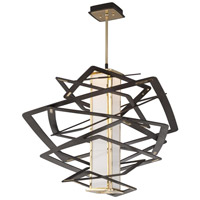 Corbett Lighting Tantrum 1 Light Pendant in Bronze with Polished Brass 186-43