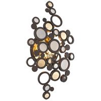 Corbett Lighting Fathom 1 Light Wall Sconce in Bronze with Polished Brass 188-11