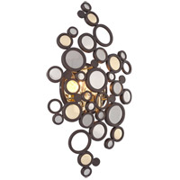 Corbett Lighting Fathom 2 Light Wall Sconce in Bronze with Polished Brass 188-12
