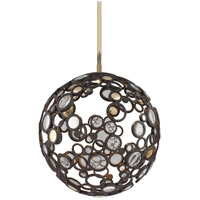 Corbett Lighting Fathom 1 Light Pendant in Bronze with Polished Brass 188-41
