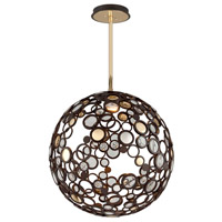 Corbett Lighting Fathom 1 Light Pendant in Bronze with Polished Brass 188-43