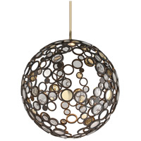 Fathom 1 Light 40 inch Bronze with Polished Brass Pendant Ceiling Light