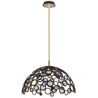 Corbett Lighting Fathom 1 Light Dining Pendant in Bronze with Polished Brass 188-45