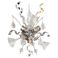 Party All Night 3 Light 14 inch Modern Silver Wall Sconce Wall Light