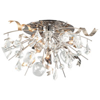 Party All Night 4 Light 28 inch Modern Silver Semi-Flush Ceiling Light