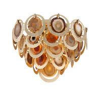 Rock Star 4 Light 20 inch Gold Leaf Flush Mount Ceiling Light